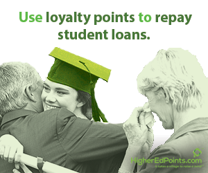 Use loyalty points to repay student loans